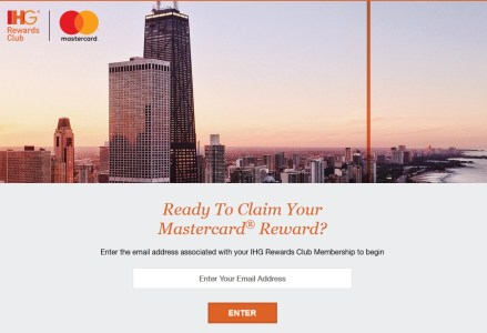 IHG Priceless Experiences Mastercard Reward