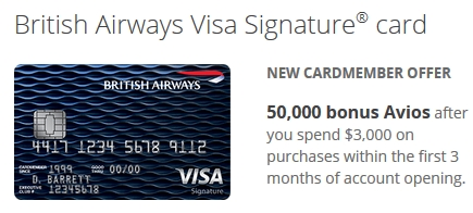 British Airways Visa 50k