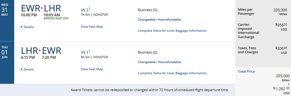 Delta Devaluation May 2017 Virgin Atlantic