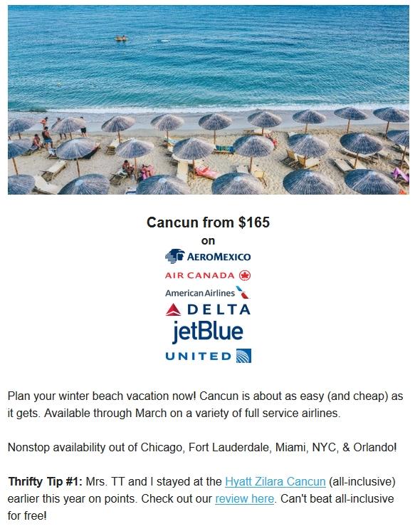 Thrifty Traveler Cancun Overview