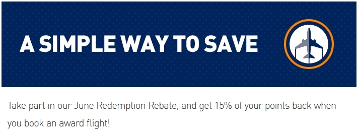 JetBlue June Redepmtion Rebate 15