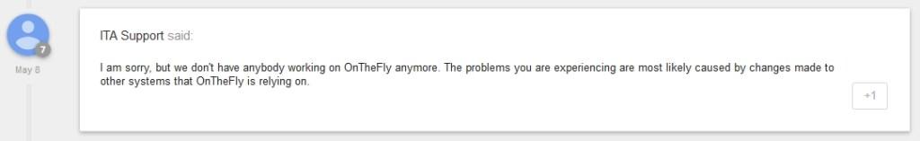 Google Product Forums ITA OnTheFly