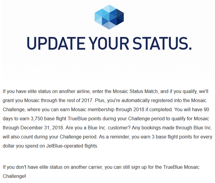 JetBlue Status Match 2017