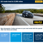 Return of the Awesome United Hertz Offer [Targeted] and How to Maximize It