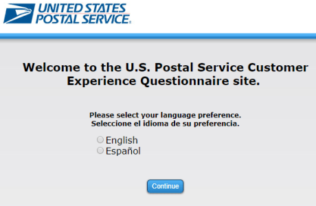 US Postal Service Customer Experience Questionnaire