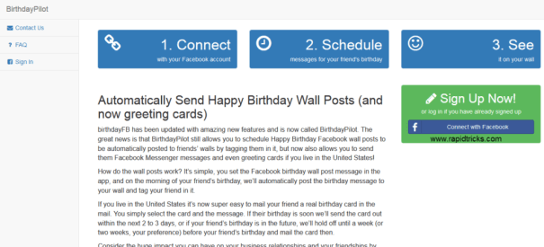 How To Auto Post Birthday Wishes On Facebook