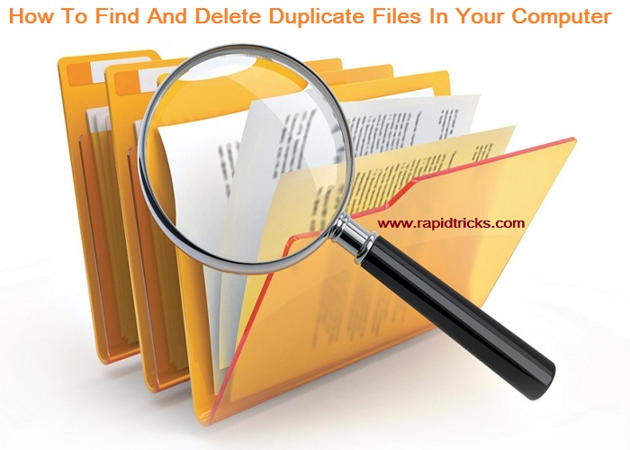 How To Find Duplicate Files And Delete Them