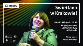 Swietłana Aleksijewicz w Krakowie!