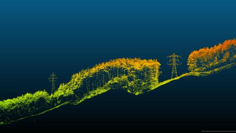 送電線・鉄塔付近によるUAVレーザー計測