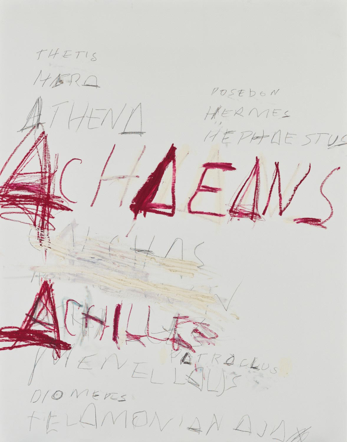 Cy Twombly, Fifty Days at Iliam: Heroes of the Achaeans