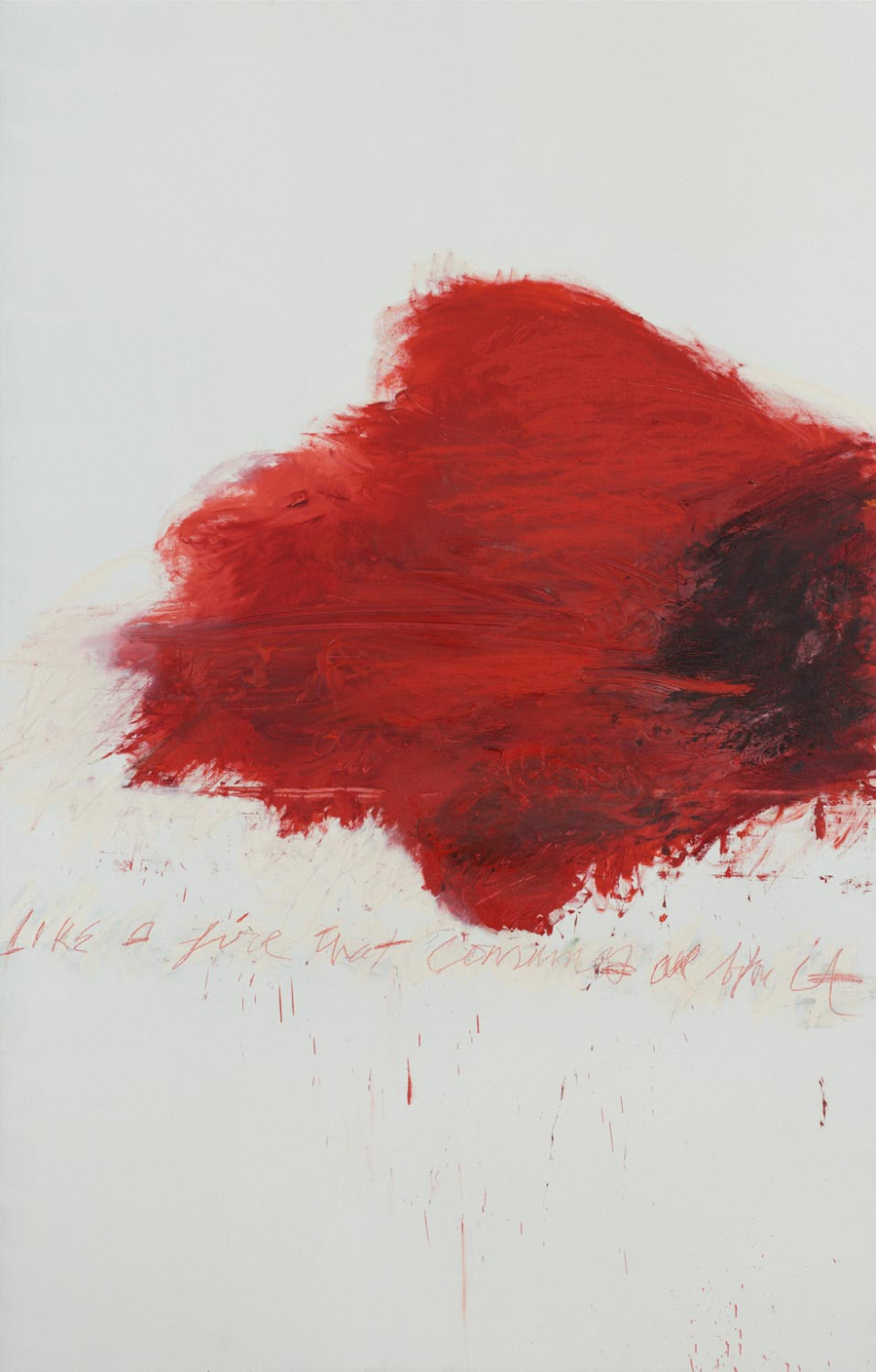 Cy Twombly, Fifty Days at Iliam: The Fire That Consumes All Before It