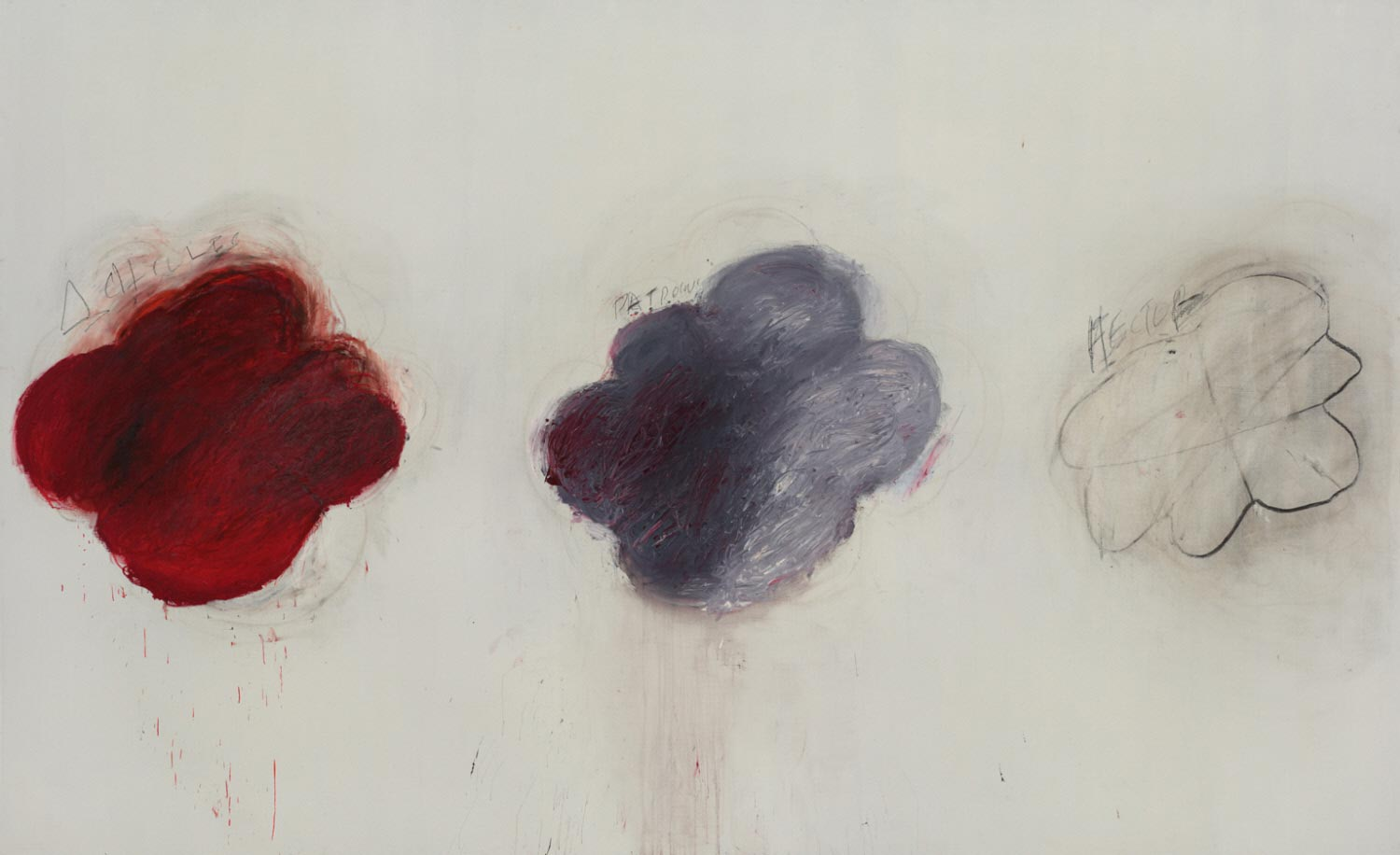 Cy Twombly, Fifty Days at Iliam: Shades of Achilles, Patroclus, and Hector