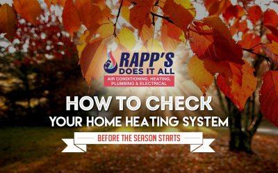 Advice Before Heating Season