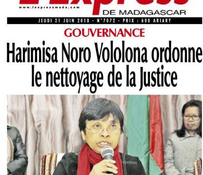 Un réseau d'influence composé de magistrat, de greffier, d'avocat qui gère le dossier dès l'enquête de police existe au sein de la Justice à Madagascar dit la Ministre de la Justice – Fantaro ny fitsarana du 5 juillet 2018