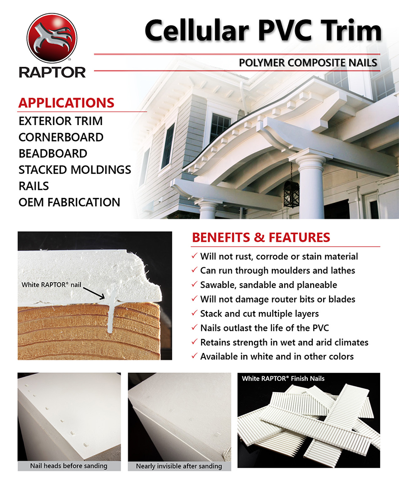 RAPTOR Polymer Composite Nails Amp Staples Applications