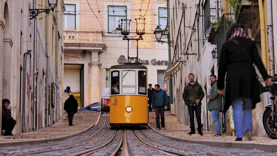 photo of tram during daytime