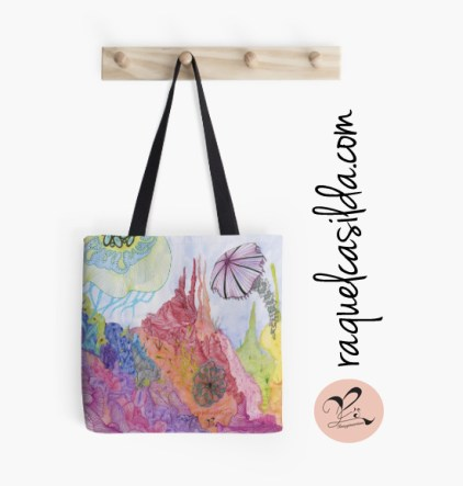 Tote-Bag-'Reef-of-Vibrance'
