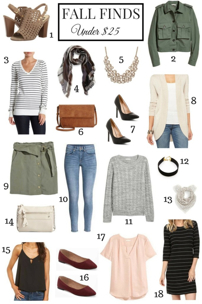 Fall Finds Under $25