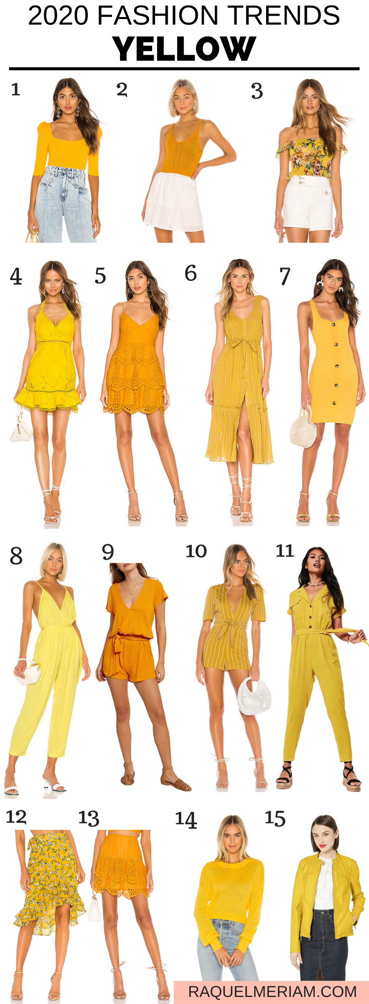 2020 Fashion Trends - Yellow