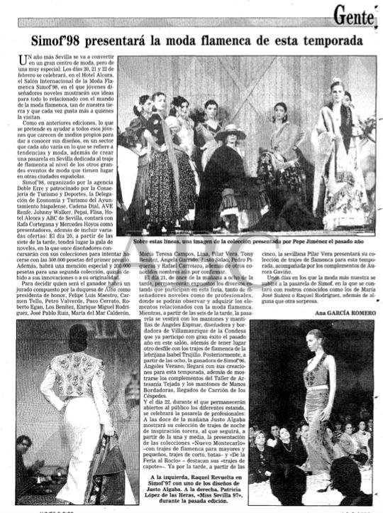 SIMOF 1998. Lee el artículo publicado en ABC aquí