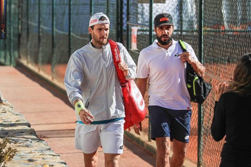 Frederico Marques e João Sousa na Beloura Tennis Academy