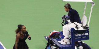 Carlos Ramos com Serena Williams