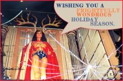 rarasaur, wonder woman, frightfully wondrous, christmas,