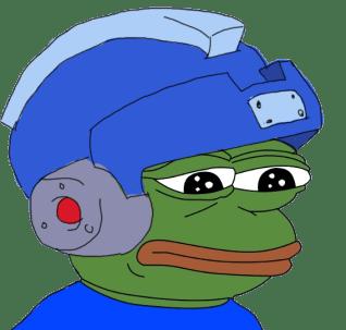 Space Helmet Pepe