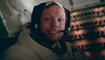 neil armstrong photographed just minutes after becoming the first man to walk on the moon - Michael Frame
