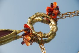 Twisted Friendly Plastic ring for lariat style necklace