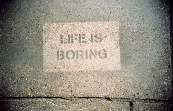 'Life is boring', snapped by lipsticklori on her Lomo LC-A