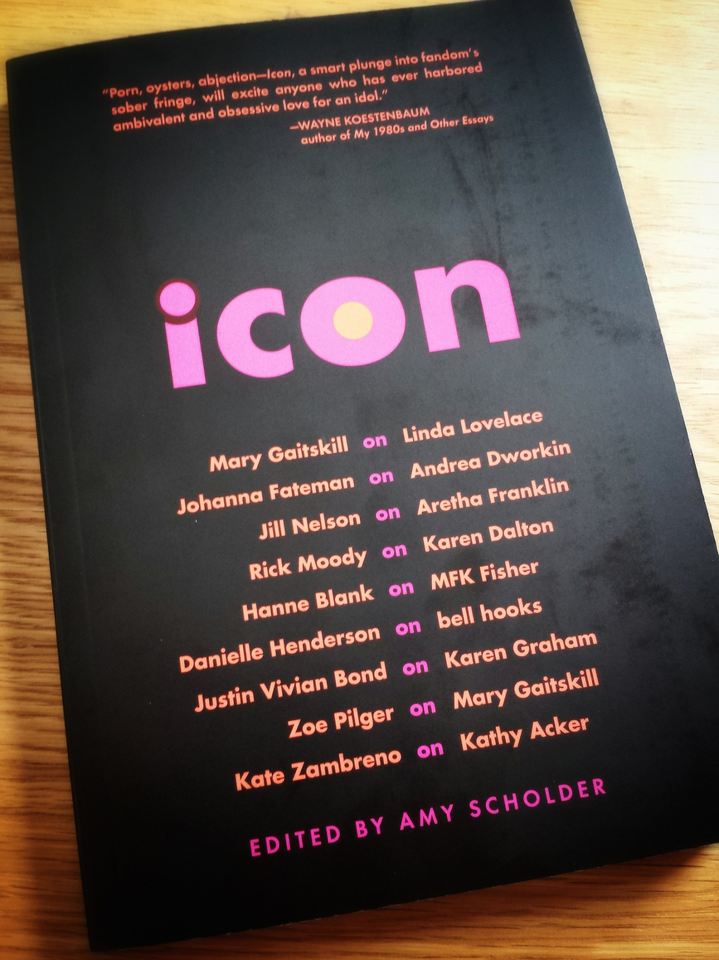 Icon, edited by Amy Scholder