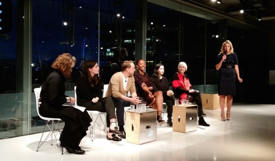 London College of Fashion panel discussion on women leaders in the fashion industry, 7th Oct 2015