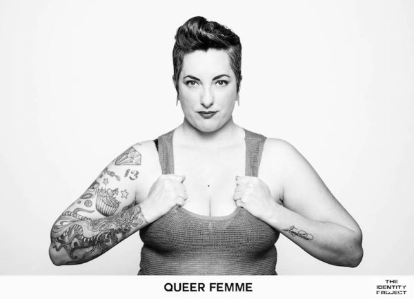 Queer Femme Sarah Deragon, from her photography project 'The Identity Project'