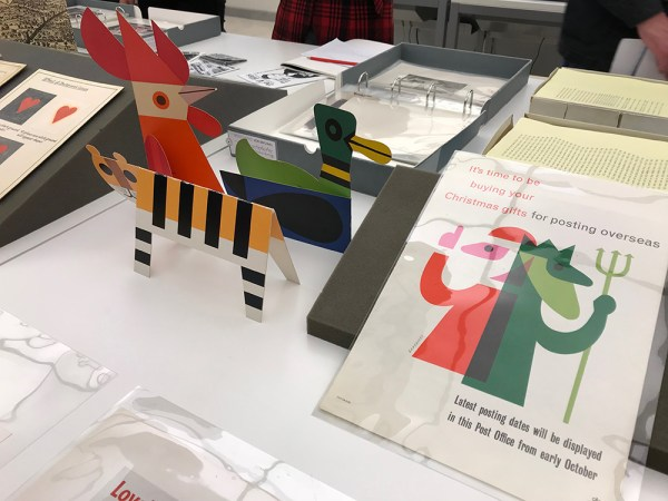 Image from a tour of the UAL Archives & Special Collections Centre