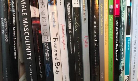 Academic books on Lori's bookshelves