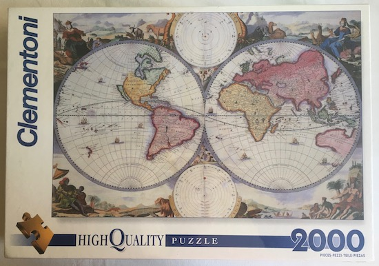 2000  Clementoni  Old Map  Unknown Artist   Rare Puzzles Image of the Puzzle 2000  Clementoni  Old Map  Factory Sealed