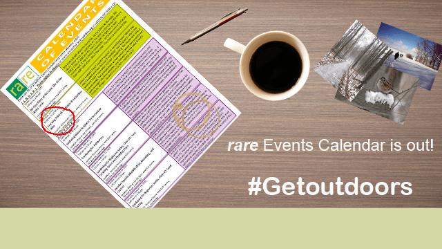 rare Events Calendar is out! #Getoutdoors, rare Logo, Calendar of Events, pen, cup of coffee, photos