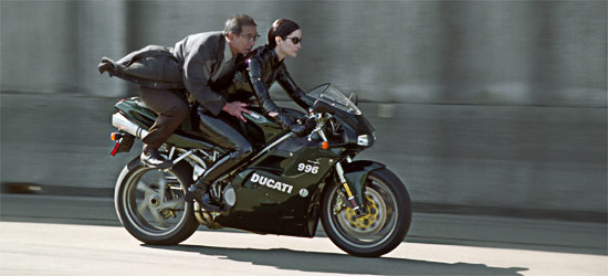 Image result for matrix reloaded bike
