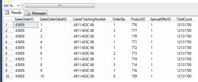 SQL SERVER - How to get total row count from OFFSET / FETCH NEXT (Paging) (1/3)