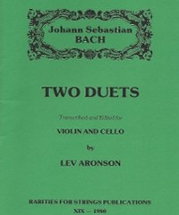 Bach J.S. (Aronson)Two Duets for Violin & Cello (PDF Download)