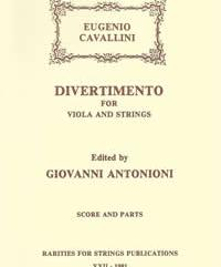 Cavallini, Eugenio (Antonioni)Divertimento for Viola & Strings in G Major(Score and Parts)