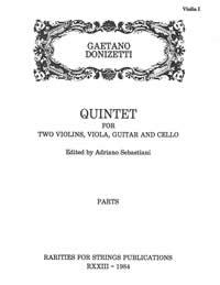 Donizetti, Gaetano (Sebastiani)Quintet for Two Violins, Viola, Guitar & Cello(Parts)