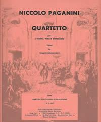 Paganini, Niccolo (Sciannameo)String Quartet in E Major for Two Violins, Viola & Cello