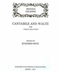 Paganini, Niccolo (Ricci)Cantabile and Waltz for Violin & Piano