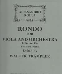 Rolla, Alessandro (Edited by Trampler)Rondo in G for Viola & Piano(Score and Orchestral parts available separately)