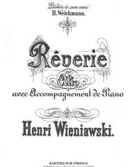Wieniawski, Henri (Sackson)Reverie in A Major for Viola & Piano