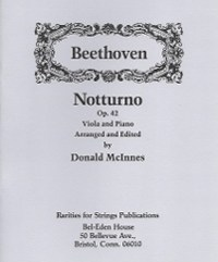 Beethoven, L. Van (McInnes)Notturno Op. 42 for Viola & Piano (PDF Download)