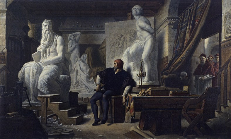 Cabanel-Michelangelo-Visited-in-His-Studio-by-Pope-Julius-II