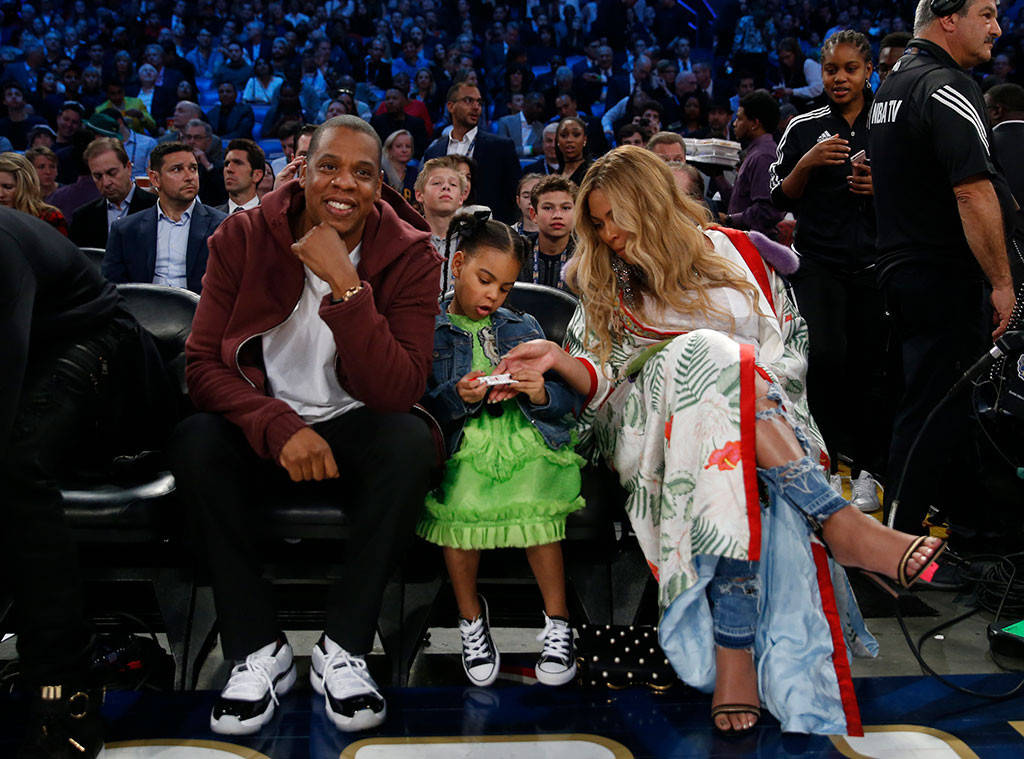 Beyoncé, Jay Z and Blue Ivy Carter Sit Courtside at NBA ...
